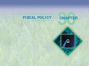 Chapter 30 - Fiscal Policy