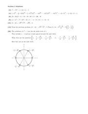 Homework I Solutions on Algebraic Structures and Functions
