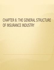 CHAPTER 6 - THE GENERAL STRUCTURE OF INSURANCE INDUSTRY.pptx