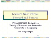 Derivatives_3_Forward and Futures