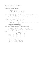 Solutions to Problem Set 4