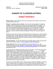 07-Sp09--Market_Research