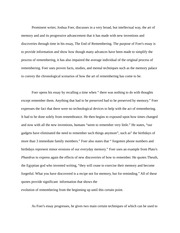 Rhetorical Essay on The End of Remembering