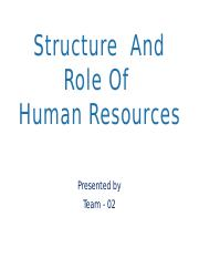 Structure  And Role Of HR.pptx