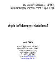 OZSOY_Why the Vatican suggested Islamic finance_29 March 2014
