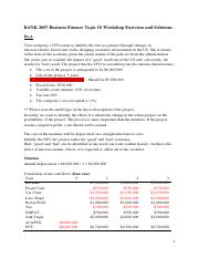 BANK 2007 Business Finance Topic 10 Workshop Exercises and solutions.pdf