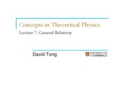 Concepts In Theoretical Physics - General Relativity