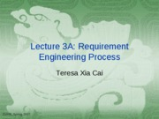 Lecuture 4 Requirement Engineering Process
