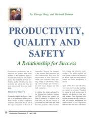 Productivity, Quality and saftey