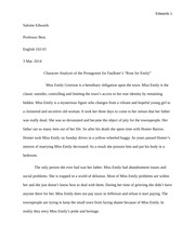 "Character Analysis of the Protagonist for Faulkner's ""Rose for Emily"""