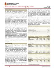 Equity Note- Advanced Chemical Industries (ACI) Limited