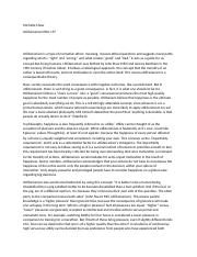Essay On English Subject  Pages Utilitarianism Essaydocx Research Paper Essay also Reflective Essay Thesis Act Utilitarianism Holds That Individual Actions Are The Locus Of  How To Make A Thesis Statement For An Essay