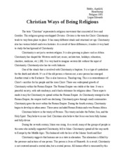 Christian Ways of Being Religious