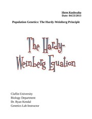 Hardy-weinbeg Lab Report