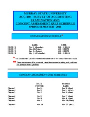 Examination and Quiz Schedule-Sp11(1)
