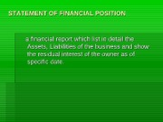 Statement of Financial Position.ppt- Accounts Titles