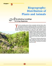distribution of plants and animal