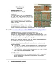 Pumpkin Investigation-Science Lesson Plan - Assignment