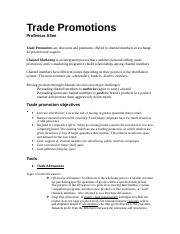 7. Trade Promotions.doc