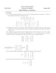 MTH 1230 Exam 1 Solutions