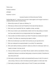 Interview Questions for African American Families.docx