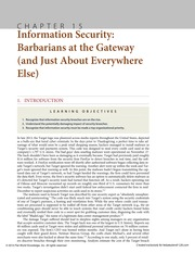 Chapter 15 Information Security Barbarians at the Gateway (and Just About Everywhere Else)