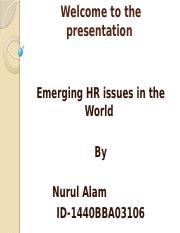 Emerging HR issues.pptx