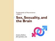 My Sex, Sexuality, and the Brain Lecture