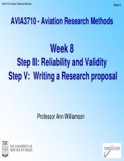 AVIA3710 - Week11_Lecture pdf - AVIA 3710 Aviation Research