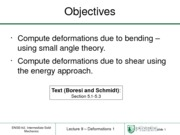 Lecture 9 - Deformations (Review and Energy)