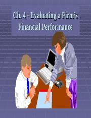 FIN Chapter 4 Evaluating Financial Performance