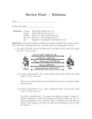 final review solutions