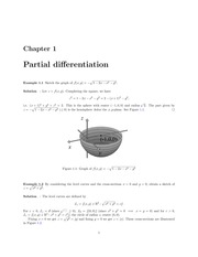 Partial Differentiation Lecture Solutions