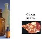 2012 NUR 214 Cancer Lecture
