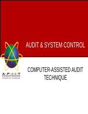 Week 10 - COMPUTER ASSISTED AUDIT TECHNIQUES .ppt