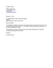job offer letter of acceptance - be ready to begin working on ...