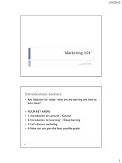 Marketing 2013 Lecture 1 (student version for BB)