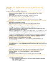 Chapter 32 study guide