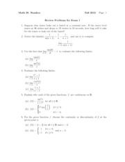 Math30Fall2012Exam1ReviewProblems
