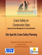site_specific_crane_safety_planning Short ppt - Crane Safety
