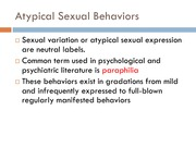 Outline Atypical Sexual BehaviorsF11