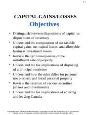 Week 6 Capital Gains and Losses - ACTG4710.pptx