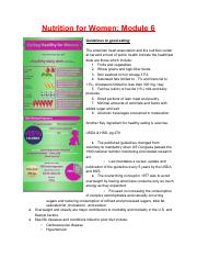 Women S Health Exam 2 Pdf Nutrition For Women Module 6 Guidelines To Good Eating The American Heart Association And The Nutrition Center At Harvard Course Hero