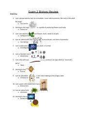 Exam 2 Biology Review