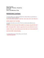 netw410 week 1 lab report Ecet 370 is a online tutorial store we provides ecet 370 week 1 lab 1.