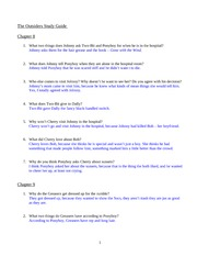 Essay Questions On The Outsiders  To Write A Crital Essay Questions On The Outsiders