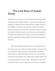 The Lost Boys of Sudan Essay.docx