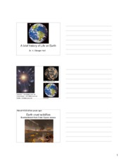 history of life handout