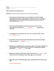 What The Health Netflix Assignment.docx - Name Period What ...