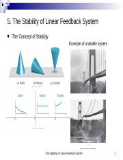5. The Stability of Linear Feedback System